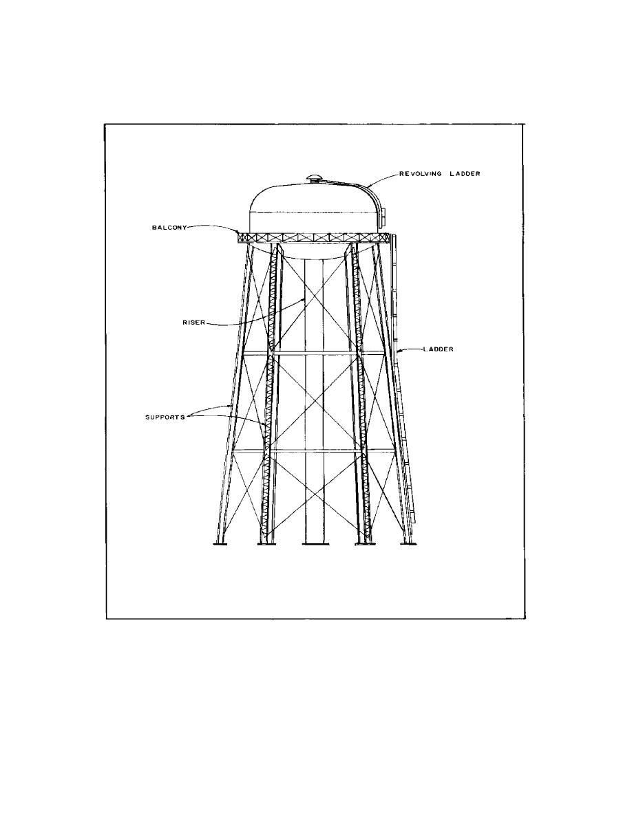 Figure 2-1  Elevated storage tank (alternative design)