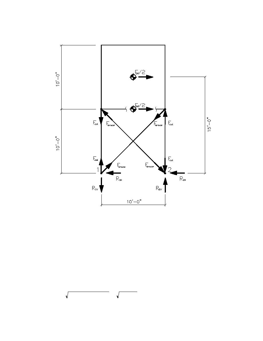 figure j2 7 seismic force diagram for supporting legs and. Black Bedroom Furniture Sets. Home Design Ideas